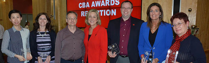 CBA Faculty and Staff Recognized with College Honors