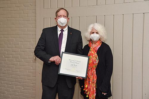 Burdic Receives Award from NU Board of Regents