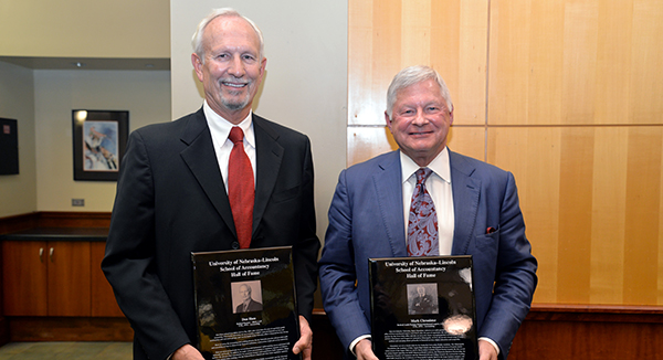 Two Alumni Inducted in the Accountancy Hall of Fame