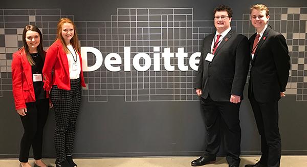 Huskers Win Regional Deloitte FanTAXtic Competition