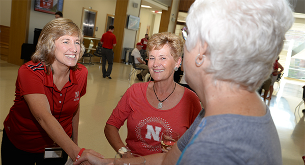 Howard L. Hawks Hall Showcased at Nebraska Business Alumni Tailgate