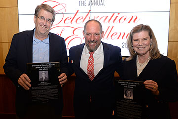 Burt and Castner Inducted into School of Accountancy Hall of Fame