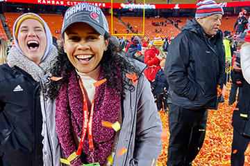 Master's Degree Leads to Super Bowl Ring