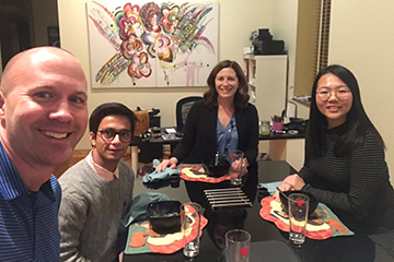 Faculty Host Dinner with International Students