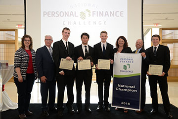 NCEE Hosts National Personal Finance Challenge at Hawks Hall