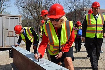 Final Steel Beam at New CBA Building Celebrated